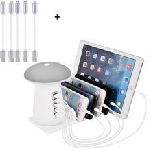 5 porto multi carregador usb estação de carregamento com carga rápida 3.0 porta para iphone xiaomi samsung telefones celulares bancos energia tablet