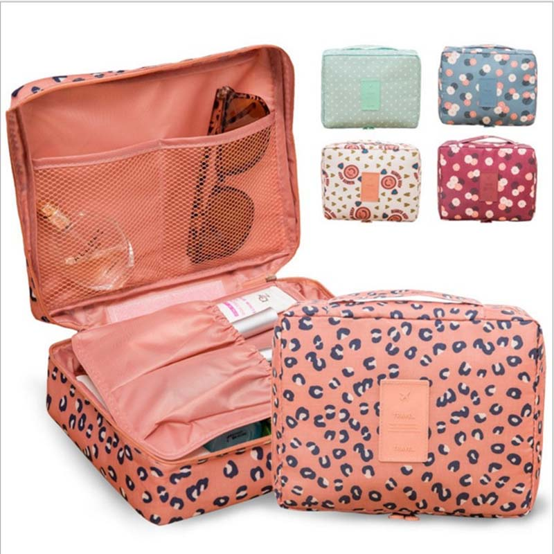 2018 Travel Cosmetic Bag Packing Cubes Print makeup bags beauty case Two-Tier cosmetics box Waterproof organizer bag 2018 travel cosmetic bag packing cubes print makeup bags beauty case two tier cosmetics box waterproof organizer bag