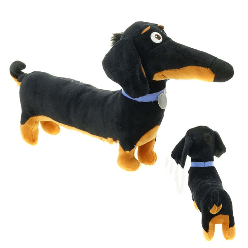 Stuffed Toys Dog 18*10 Stuff New Hot Cartoon Dachshund Cute Plush Toys Baby Black Toy Holiday Birthday Gift Kids Dachshund Dog