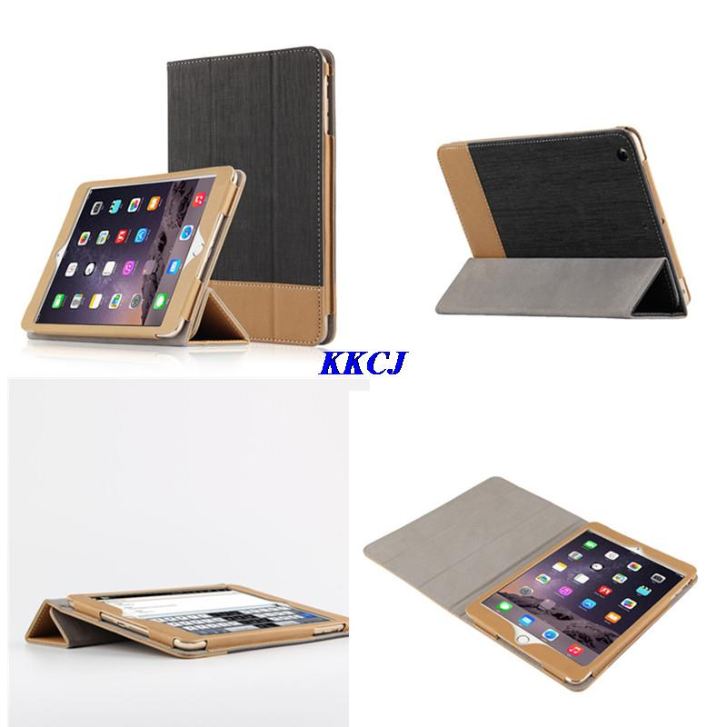 SD Luxury New Business Stitching Style PU Leather Case for iPad air 2 Flip Smart Cover for Apple iPad Air2 iPad 6 with Film gift sd luxury stitching pu leather book case for ipad air 1 auto wake up function smart cover for ipad air1 ipad5 tablet film gift