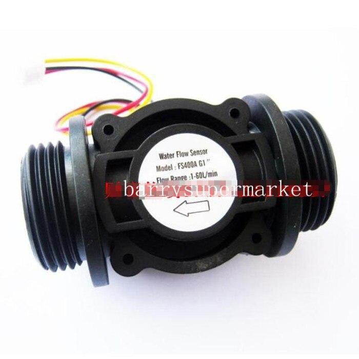 Capteur de Débit d'eau Commutateur Débitmètre de Carburant Mètre D'eau De Piscine Capteur Débitmètre D'eau Capteur Compteur Indicateur FS400A DN25