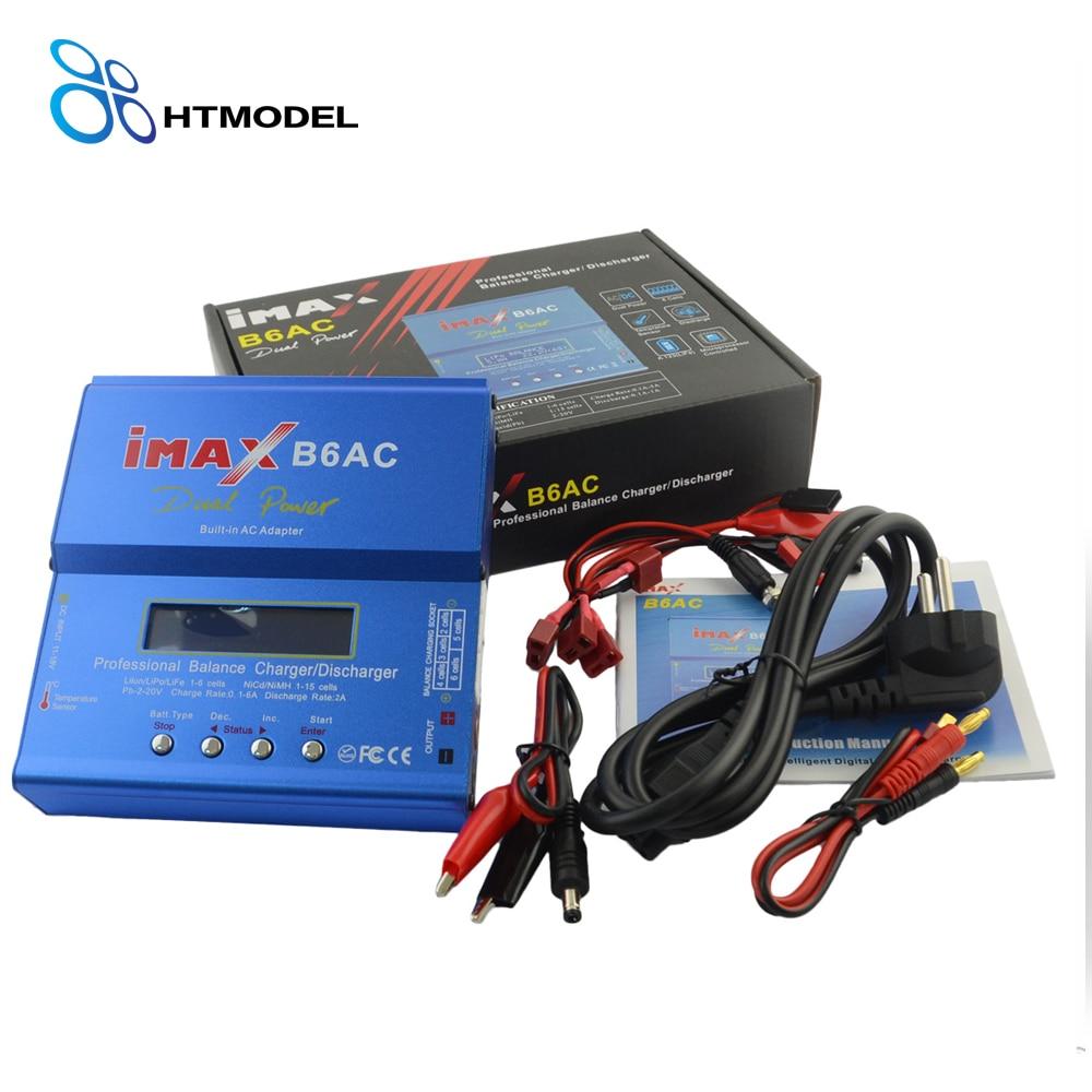 HTRC iMAX B6 AC Lipo Battery Balance Charger iMAX B6AC 80W 6A Dual Power Lipo Nimh Nicd Battery Balance Charger Discharger imax b6 twins