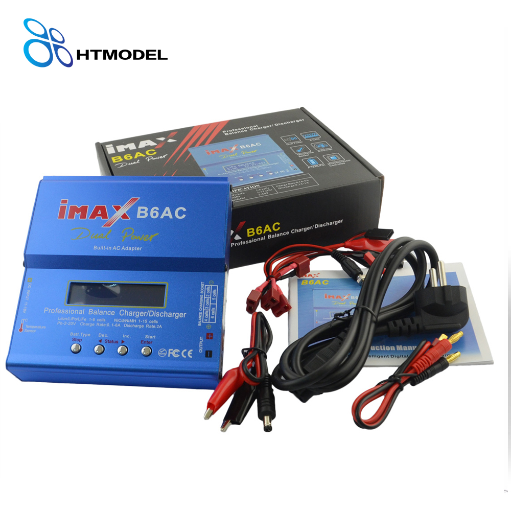 HTRC iMAX B6 AC Lipo Battery Balance Charger iMAX B6AC 80W 6A Dual Power Lipo Nimh Nicd Battery Balance Charger Discharger