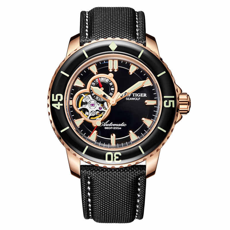 Reef Tiger/RT Sport Automatic Mechanical Watches Men Sport Super Bright 200 M Diving Waterproof Watch Relogio Masculino RGA3039