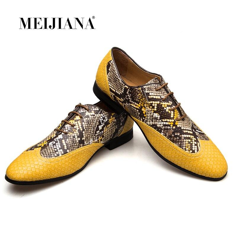 MeiJiaNa Top quality Leather Men Dress Shoes Brand Man Business Oxfords Shoes