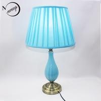 Modern unique fabric ceramic desk light E27 LED 220V 2 styles book Lamp for Reading bedside home restaurant living room cafe bar