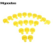 Mgoodoo 20PCS Car Styling Bumper Moulding Clips Nylon Yellow 91578-T0A-003 Fits For Honda CR-V