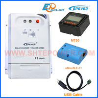 Solar mppt 12v 24v charger controller tracer3210CN 30A 30amp with bluetooth function USB cable MT50 remote meter