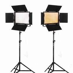Viltrox 2x VL-40T Bi-Color Dimmable LED Video Light w/ Remote + 2M Light Stand Camera DSLR Photo Studio Kit