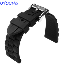 20mm 22mm 23mm High Quality Rubber watchband Strap Black&Blue Men Women WATCHBAND for AR watch Free Shipping Strap Bracelet