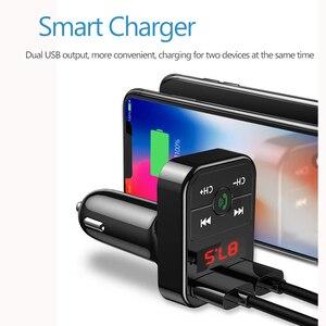 Автомобильный Bluetooth 5,0 FM передатчик беспроводной громкой связи аудио приемник авто MP3 плеер 2.1A двойной USB быстрое зарядное устройство автомобильные аксессуары