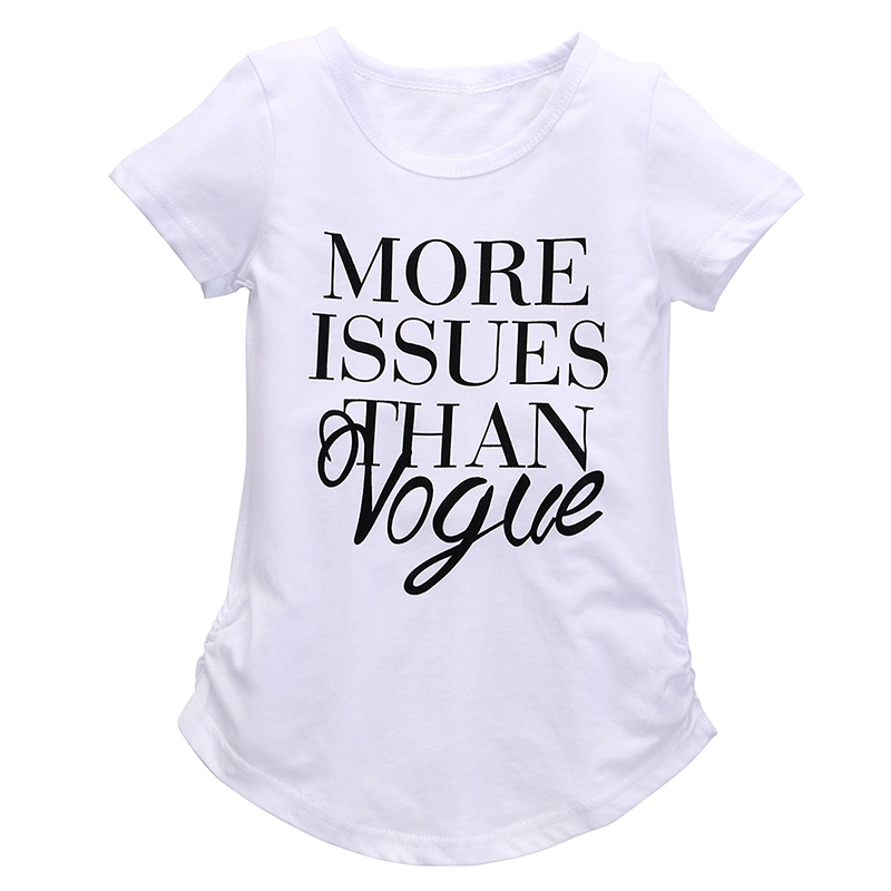 T-Shirts Clothing Tops Short-Sleeve Print Toddler Girls Kids Summer New Letter Casual