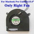 """Frete Grátis Para Macbook Pro Unibody 15.4 """"Ventilador de Refrigeração da CPU Fã Apenas Do Lado DIREITO A1321 A1286 A1382 922-8702 661-4951 2009-2012"""