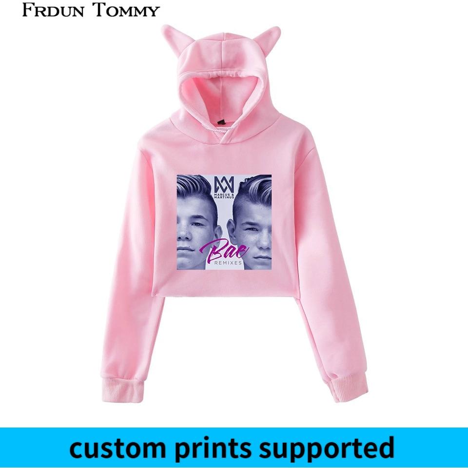 Frdun Tommy Marcus &martinus Cat Ear Sweatshirt 2018 New Ouewear Women Favorite Twin Combination Cute Cat Ear Sweatshirt Custom