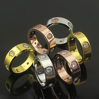High Quality New Luxury Stainless Steel Brand Love Six Stones Rings Jewelry Carter Love Rings For