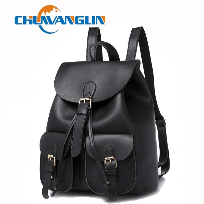 Chuwanglin Vintage Backpack Women Fashion Preppy Style School Bag Mochila Feminina New Leather Women's Travel Bag S1994