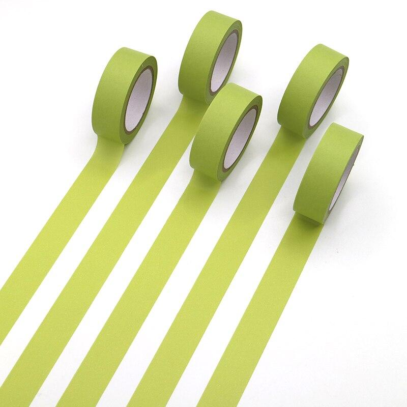 1 PCS Refreshing Kawaii Candy Light Green Color Washi Tape Pattern Masking Tape Decorative Scrapbooking DIY Office Adhesive Tape