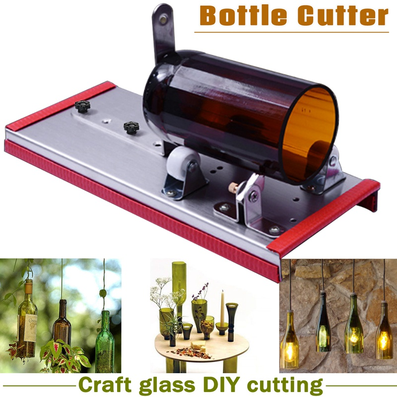 Doersupp Glass Wine Bottle Cutter Cutting Machine Beer Jar DIY Kit Craft Recycle Tool Stainless Steel Alloy Glass Cutter Tools elegant cocktail glass shaped aluminum alloy diy biscuit cookie cutter mould silver