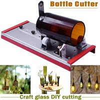Doersupp Glass Wine Bottle Cutter Cutting Machine Beer Jar DIY Kit Craft Recycle Tool Stainless Steel Alloy Glass Cutter Tools
