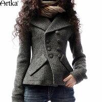 Artka Women's Winter Jackets Autumn Wool Coat Female Double Breasted Women's Short Jacket 2018 Plus Size Ladies Overcoat A09792