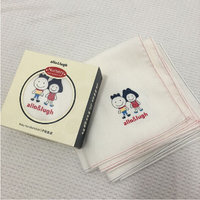 6 PCS Of Box Baby Handkerchiefs Cotton Square Baby Hand Towel Bibs Feeding 33 33CM Big