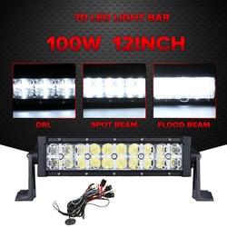 Partol 7d 100w 12 led light bar cree chips offroad combo beam led work light driving.jpg 250x250