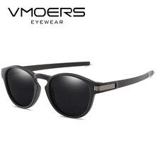 VMOERS Retro Runde Sonnenbrille Männer Polarisierte Schwarz TR90 Sun Glasse für Männer Vintage Marke Hohe Qualität Sun Shades Oculos Männlichen 2017
