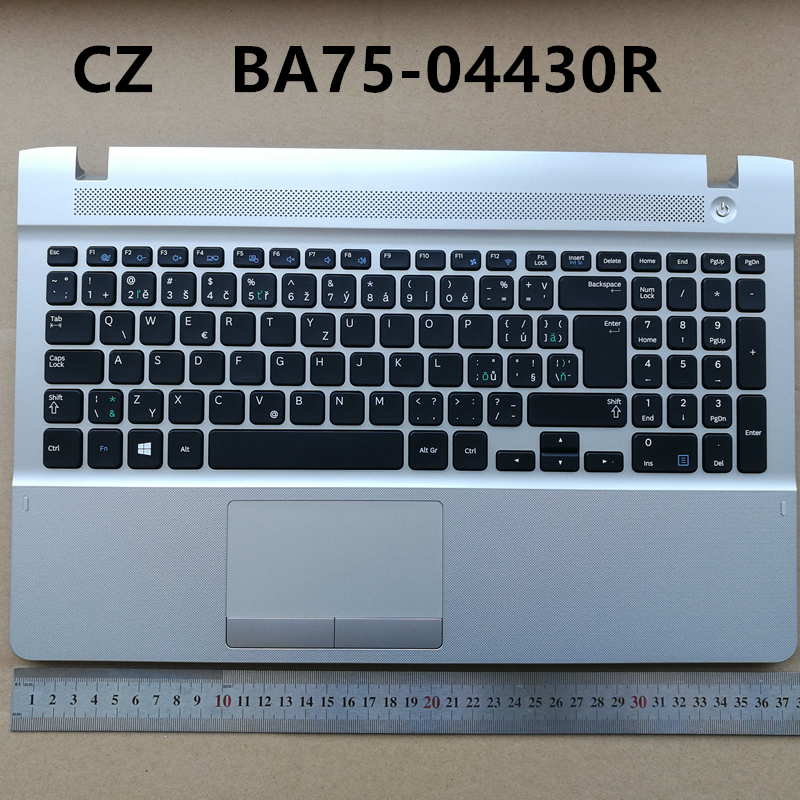 CZ new laptop keyboard with touchpad palmrest for Samsung 270E5V 270E5E 300E5E 275E5V 275E5E BA75-04430R