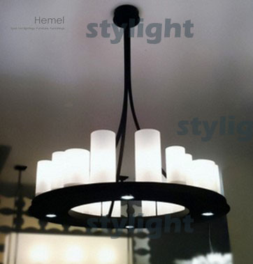hemel math ring Modern Pendant lamp LED candle chandelier Kevin Reilly Lighting Innovative candle metal fixture modern pendant lamp led candle chandelier kevin reilly hemel math ring lighting innovative small and large size milk white glass