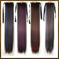 Ponytails long straight ponytail hairpieces, synthetic hair tail, ponytails extension, drawstring ponytail