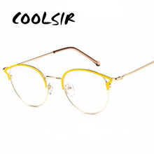 COOLSIR Retro Metal Glasses Cat Eye Anti Blue Ray Goggles Computer Vintage Designer Myopia Eyewear Frames