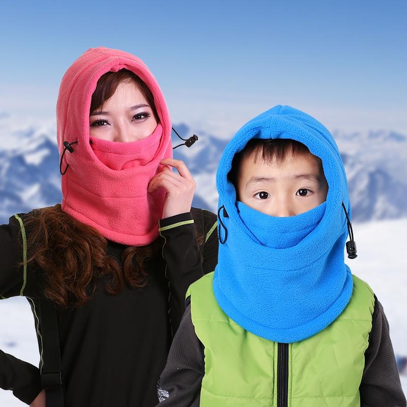Fleece inverno neck warmer máscara facial do crânio da motocicleta balaclava beanie das mulheres dos homens chapéus, casquette touca inverno gorro de esqui feminino