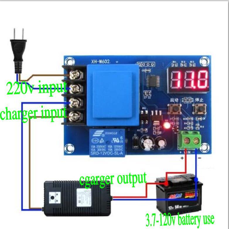 NC 3,7-120 В 12 В литиевых Батарея Зарядное устройство Управление переключатель зарядки защиты доска