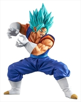 WSTXBD BANPRESTO Original Dragon Ball Z DBZ Blue God Vegetto Final Kamehameha PVC Figure Toys Figurals