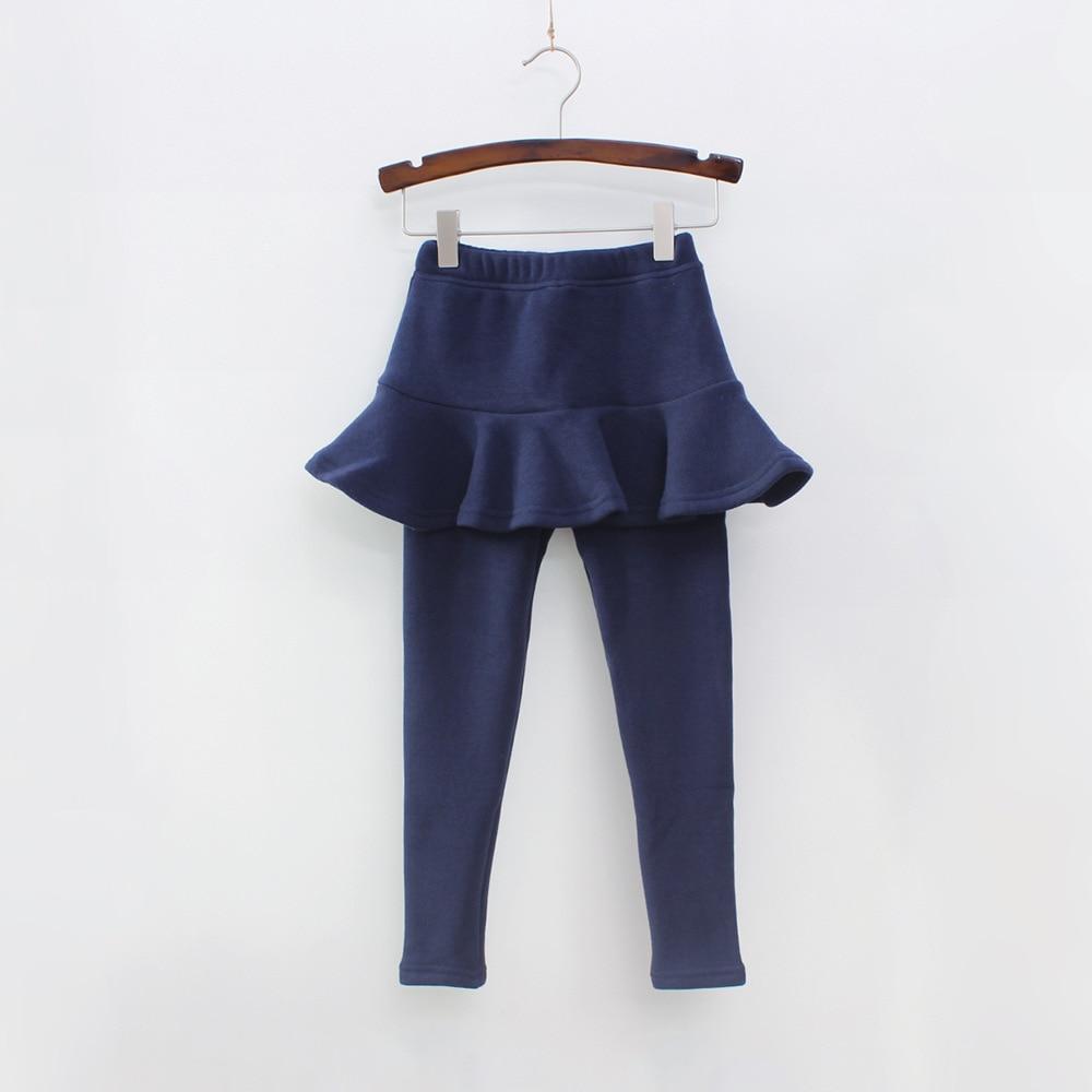 Г. Однотонные штаны для девочек детские леггинсы От 2 до 10 лет одежда для детей осенние хлопковые леггинсы теплая юбка-брюки для маленьких девочек, высокое качество - Цвет: Blue
