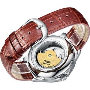 Image 5 - 2019 패션 GUANQIN Mens 시계 톱 브랜드 럭셔리 스켈레톤 시계 남성 스포츠 가죽 뚜르 비옹 자동 기계식 손목 시계
