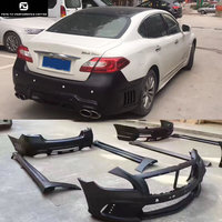 Q70 WD style FRP car front bumper rear bumper side skirts for Infiniti Q70 WALD style Car body kit 13 15