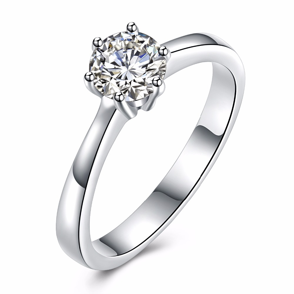 New Sale! Fine Wedding Ring Classic Engagement Jewelry Cubic Zirconia Stone Size 5 to 10 Women Thin Band Midi Ring