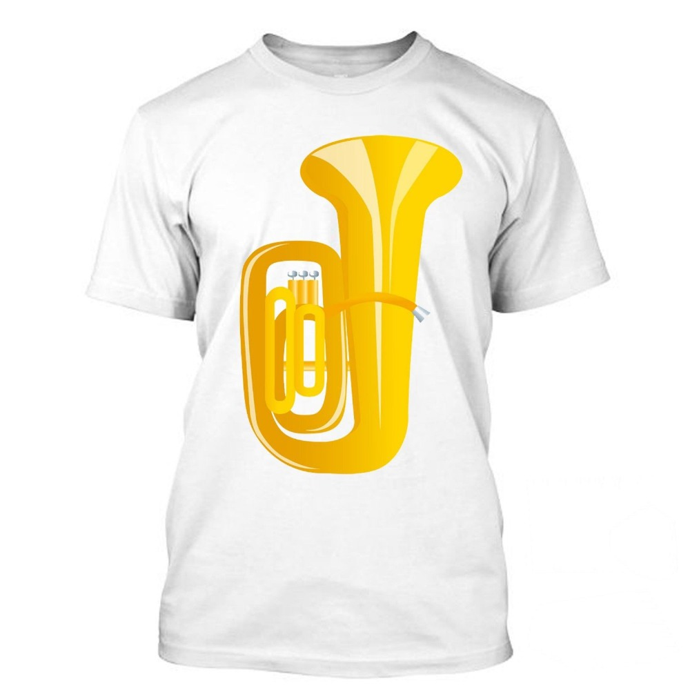 Tuba I Love Music Orchestra Funny T Shirt Tees Classic Quality High