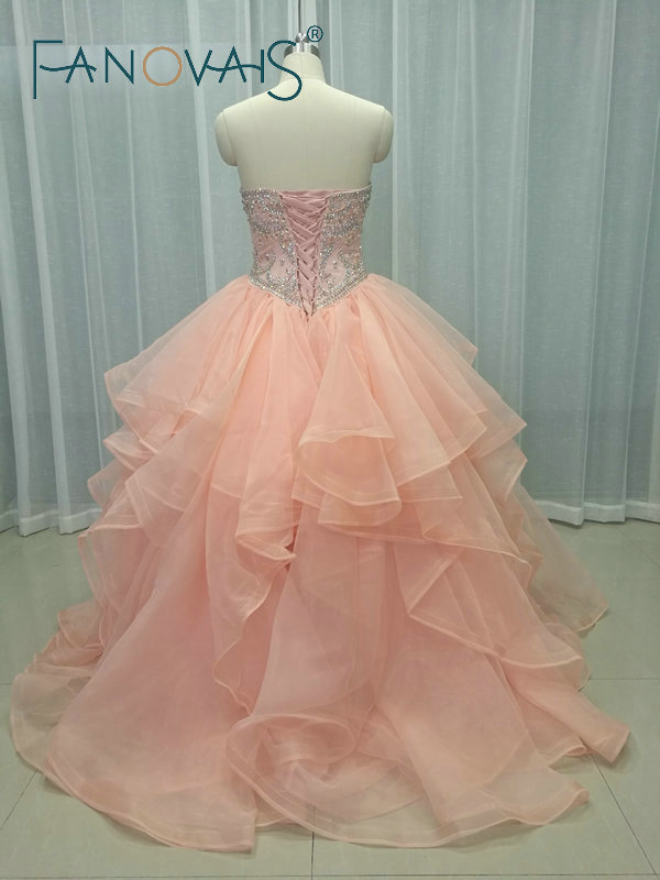 46e3a5e70 Quinceanera Dresses 2019 vestidos de 15 anos Beads Top Ruffles Prom Dress  Sweet 16 Dress vestido de debutantes e 15 anos barato-in Quinceanera Dresses  from ...