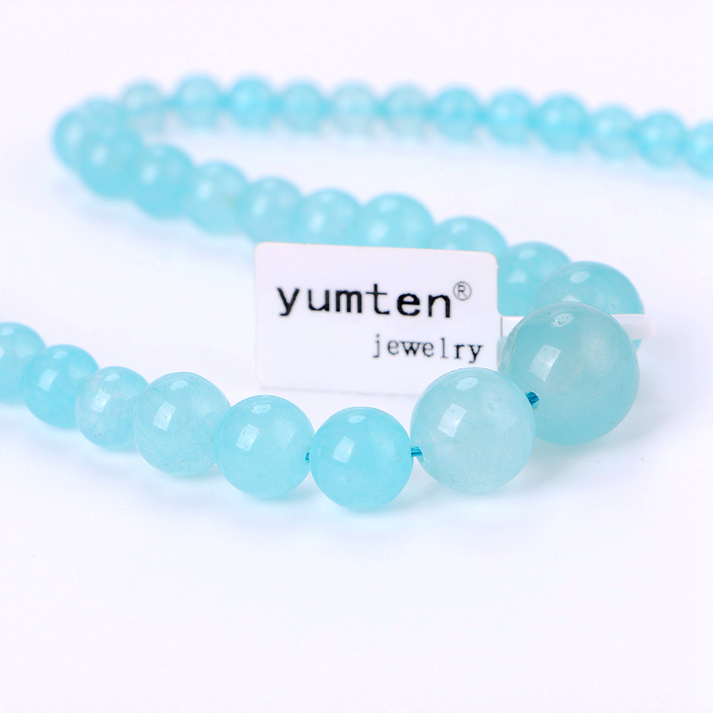 Yumten Women Necklace Natural Crystal Power Stone Agate Beads Chain Reiki Charm Gemstone Female Choker Male Men Fine Jewelry Bag in Necklaces from Jewelry Accessories