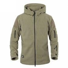 ฤดูหนาวทหารยุทธวิธีขนแกะเสื้อแจ็คเก็ตทหาร Soft Shell Fleece Hoody Jacket Men Thermal Hoodie Coat
