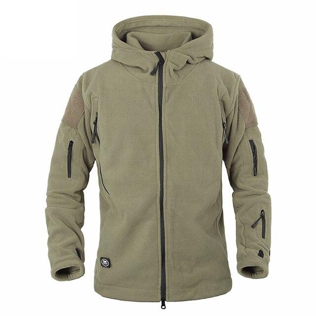 Winter Military Tactical Fleece Jacket Military Uniform Soft Shell Fleece Hoody Jacket Men Thermal Hoodie Coat