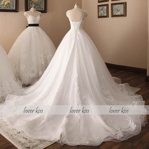Image 5 - Lover Kiss Real Photo Ballชุดแต่งงานชุดเดรสสำหรับผู้หญิงหมวกเจ้าหญิงลูกไม้ชุดเจ้าสาวVestido De Noiva Robes mariage