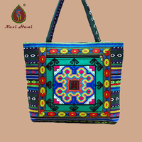 HOT 5 Colors Ethnic Handmade Textile Cloth Embroidered Handbags Vintage Women Shoulder Bags Large Shopping