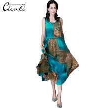 CISULI, шелковое шифоновое платье, натуральный шелк, женское платье, эксклюзивный дизайн, летние новые вечерние платья, XL, XXXL, 4XL