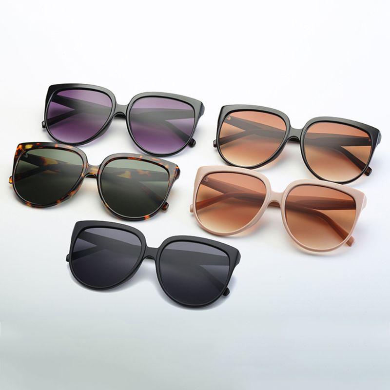 2019 Fashion Summer Women Retro Oversized Frame Eyeglasses Dish-shaped Cat Eyes Spectacles Eyewear Versatile Sunglasses