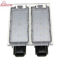2Pcs 12V White LED Number License Plate Light For Renault Twingo Clio Megane Lagane Error Free