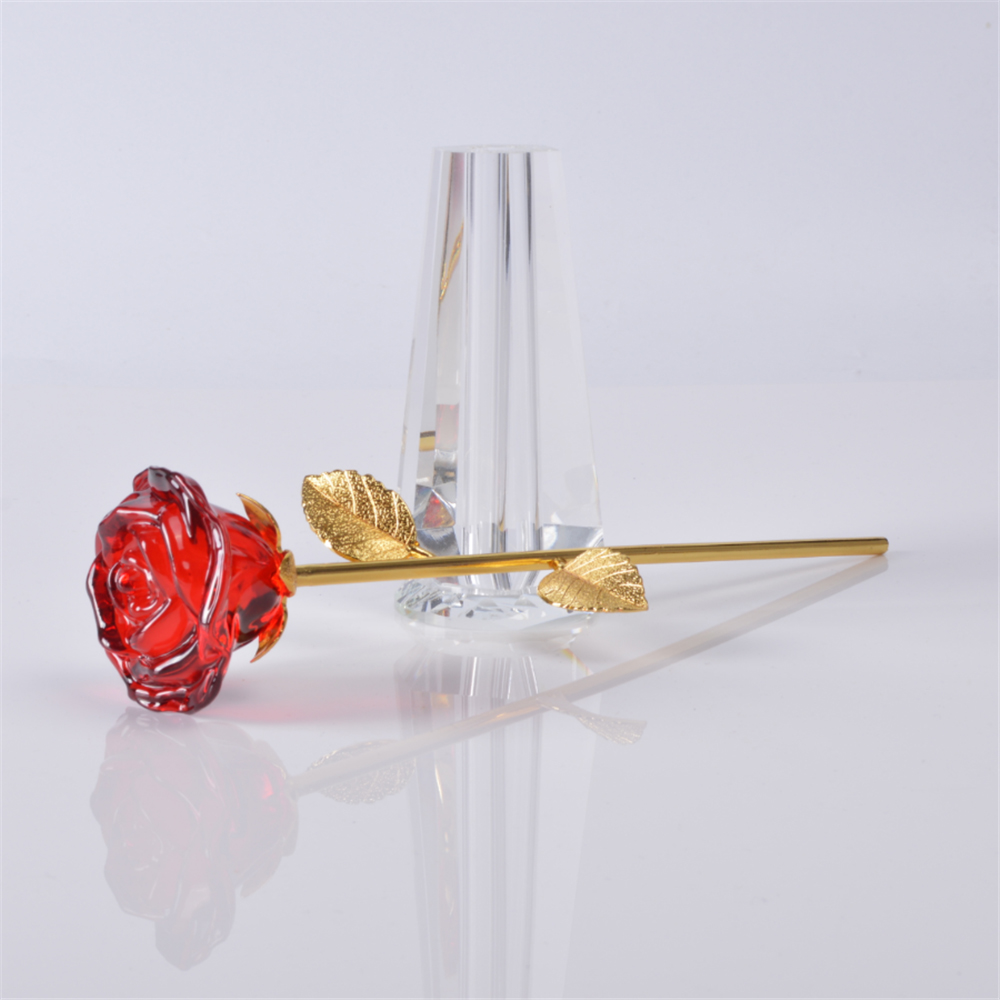 Best Gift For Girlfriend Romantic Love Crystal Rose Crafts Glass