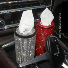 Car Crystal Diamond Tissue Box Diamante Block Type Home Office Hotel Luxury Rhinestone Paper Girls Women